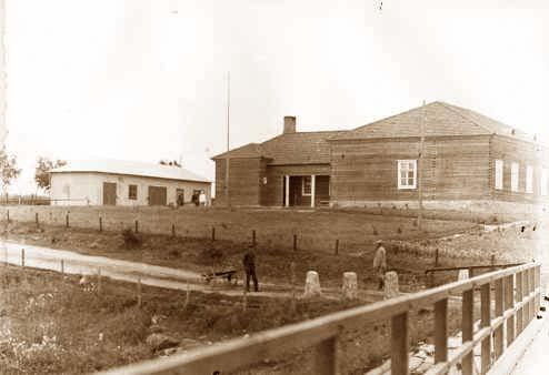 Alajärven sairaala pian valmistumisensa jälkeen. Kuva: Alajärven kaupungin kokoelmat